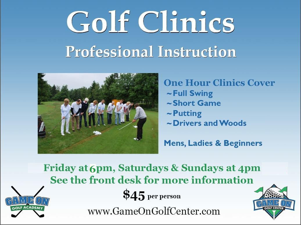Golf Clinics General update