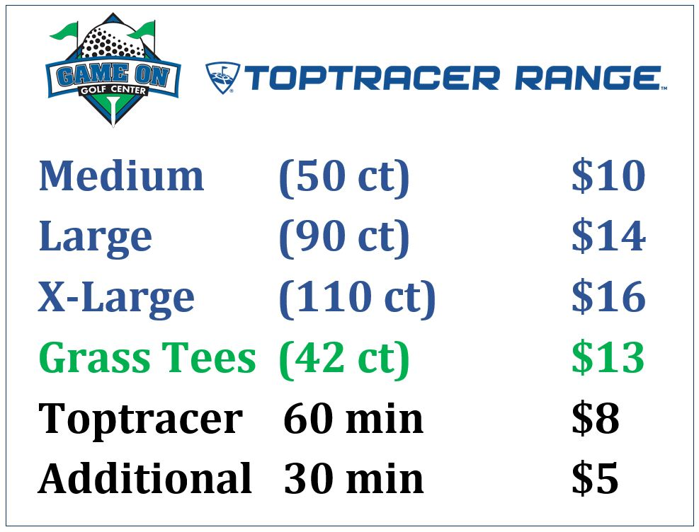 2021 Ball Pricing with Toptracer