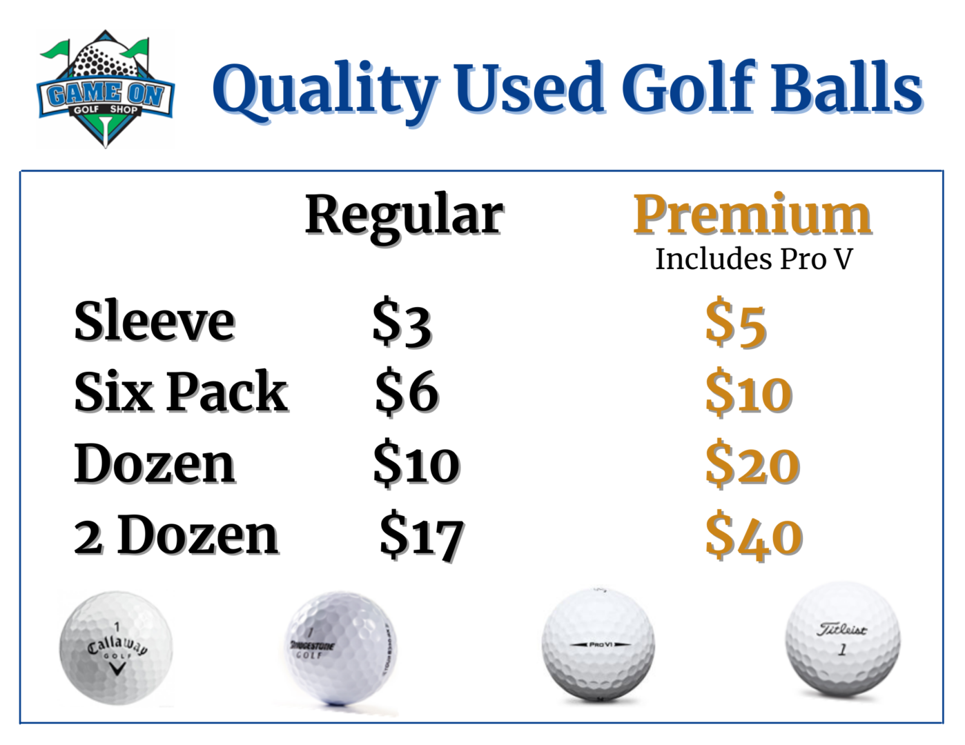 Quality Used Golf Balls Canva